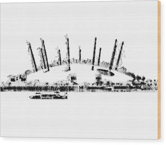 London O2 Arena Wood Print