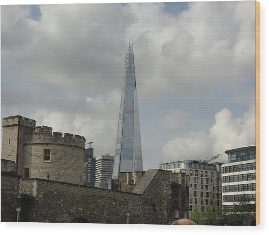 London Shard And Tower Wood Print