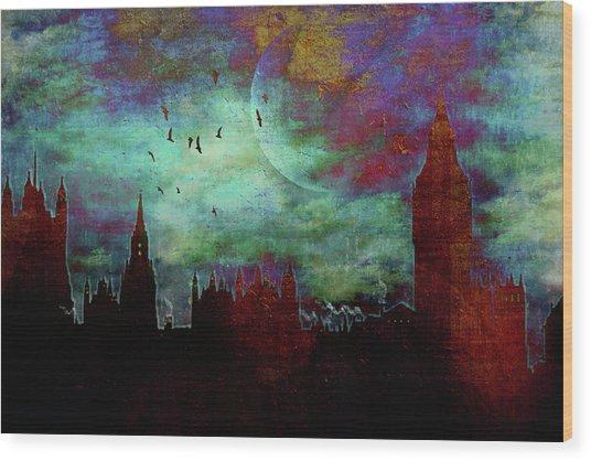 London Skyline II Wood Print
