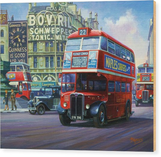 London Transport Rt1. Wood Print