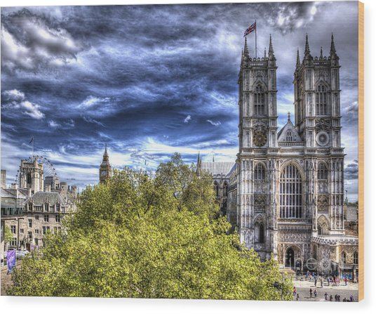 London Westminster Abbey Surreal Wood Print