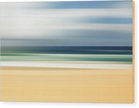 Lone Beach Wood Print