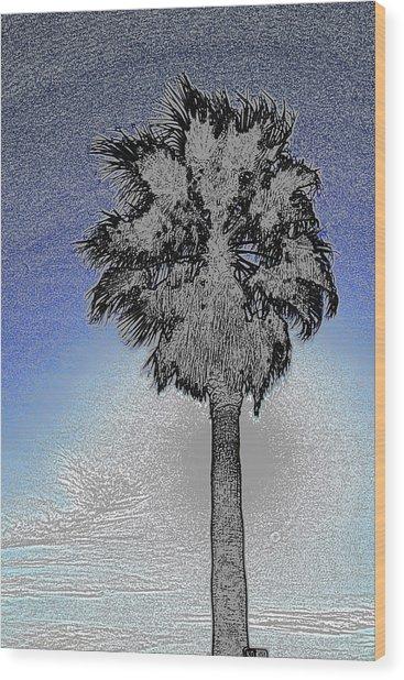 lone Palm 2 Wood Print