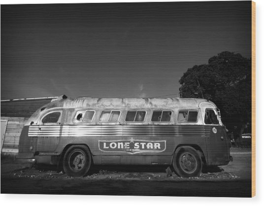 Lone Star Bus 1 Wood Print by John Gusky
