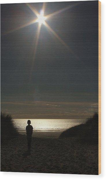Lone Star Wood Print by Sean Wareing