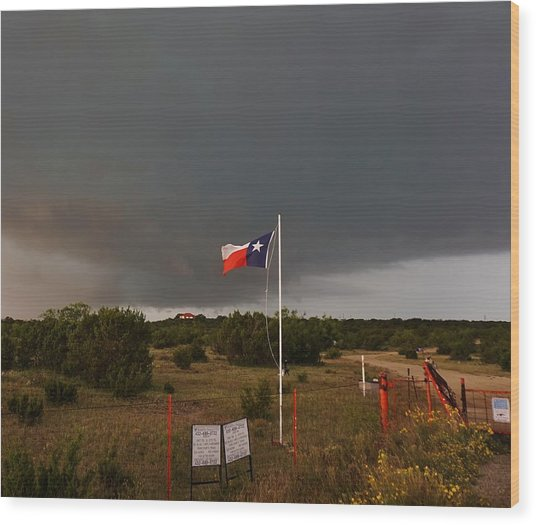 Lone Star Supercell Wood Print