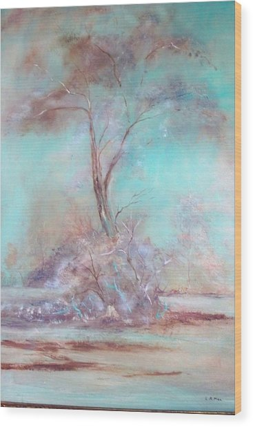 Lone Tree Wood Print by Lynda McDonald