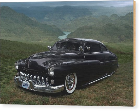 Lone Wolf 1949 Mercury Low Rider Wood Print
