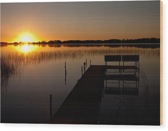 Lonely Dock Wood Print