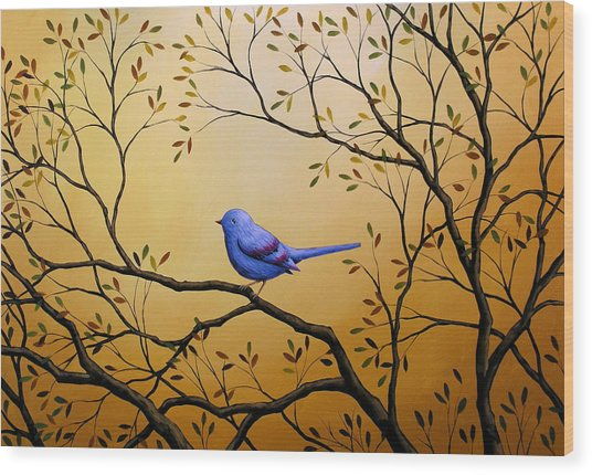 Lonely Night By Amy Giacomelli Bird Art Wood Print