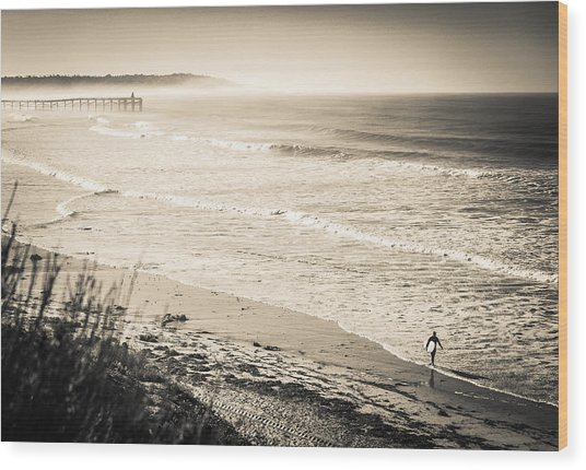 Lonely Pb Surf Wood Print