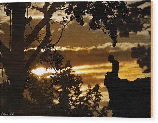 Lonely Prayer Wood Print