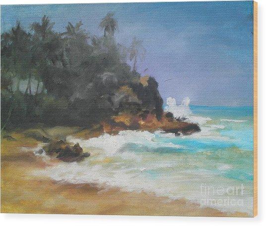 Lonely Sea Wood Print