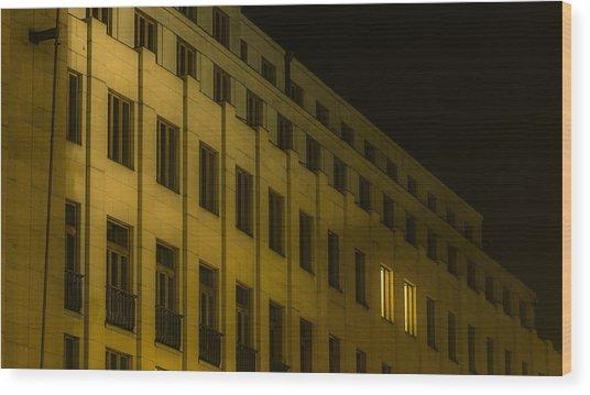 Lonely Shining Office Wood Print by Marek Boguszak
