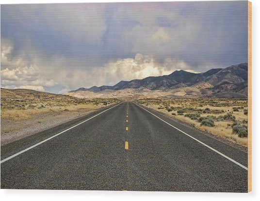 Lonesome Highway Wood Print by Nick Roberts
