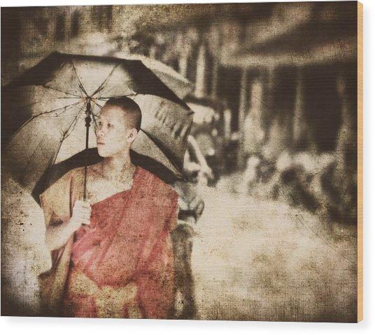 Long Ago In Luang Prabang Wood Print