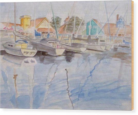Long Beach Pier Wood Print by Jennifer Hotai
