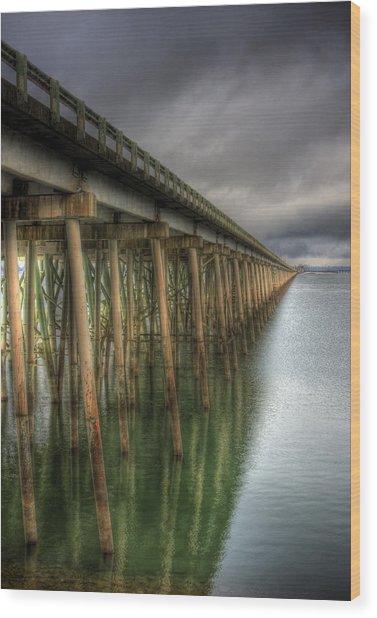 Long Bridge  Wood Print
