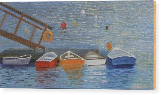 Long Cove Dock Wood Print