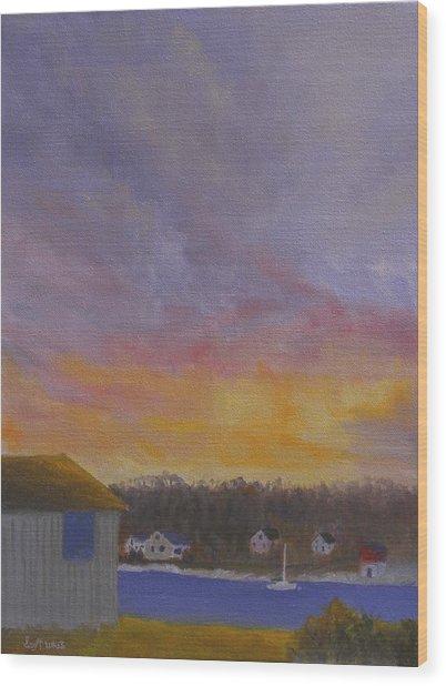 Long Cove Sunrise Wood Print