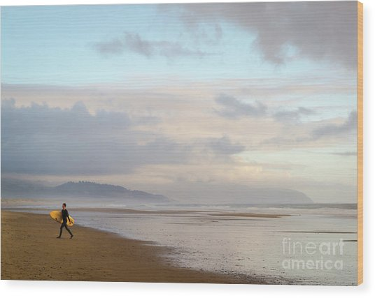 Long Day Surfing Wood Print