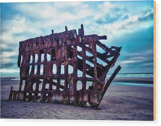 Long Forgotten Shipwreck Wood Print