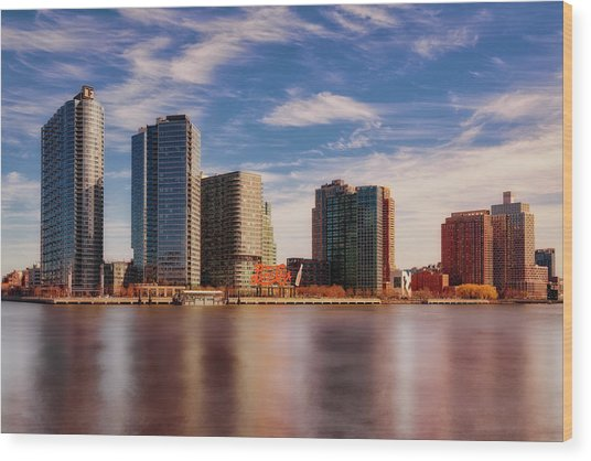 Wood Print featuring the photograph Long Island City Skyline Nyc by Susan Candelario