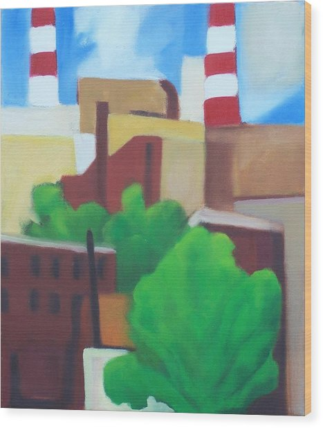 Long Island City View Wood Print