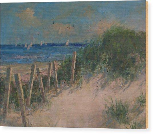 Long Island Dunes Wood Print