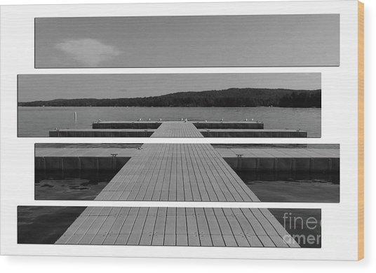 Long Lake Dock Wood Print