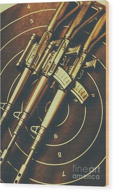 Long Range Tactical Rifles Wood Print