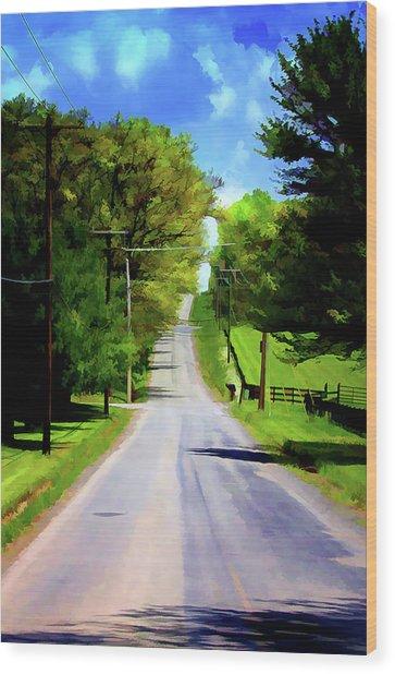 Long Road Ahead Wood Print