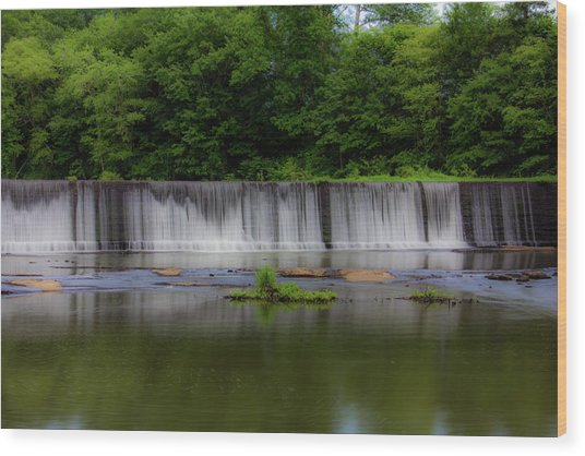 Long Waterfall Wood Print