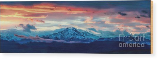 Longs Peak At Sunset Wood Print