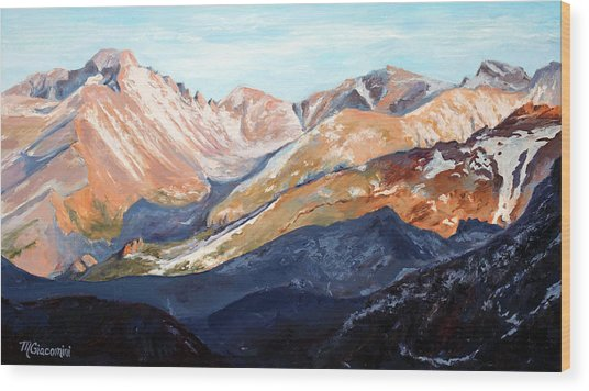 Longs Peak From Trail Ridge Road Wood Print