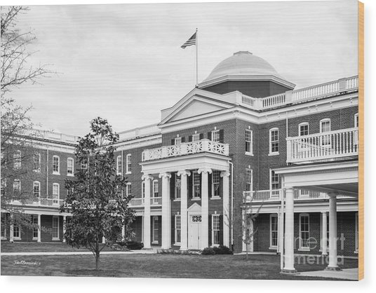 Longwood University Ruffner Hall Wood Print