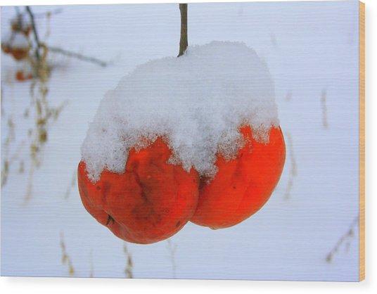 Look At Them Apples Wood Print by Julie Lueders