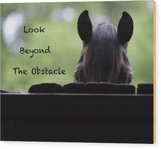 Look Beyond The Obstacle Wood Print