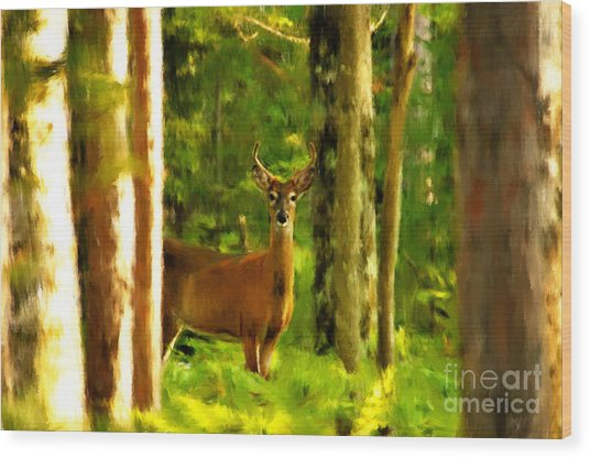 Look Deep Into Nature Wood Print