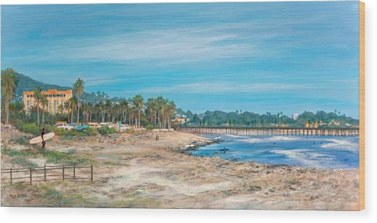 Looking Back At Surfers Point Wood Print by Tina Obrien