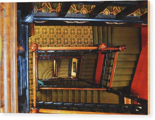 Looking Down Wood Print