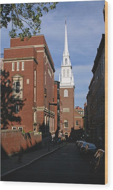 Looking East Towards The Old North Church Wood Print
