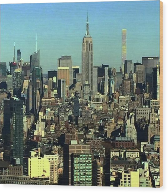 Looking Homeward From #1wtc Wood Print by Gina Callaghan