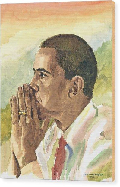 Looking Presidential Wood Print