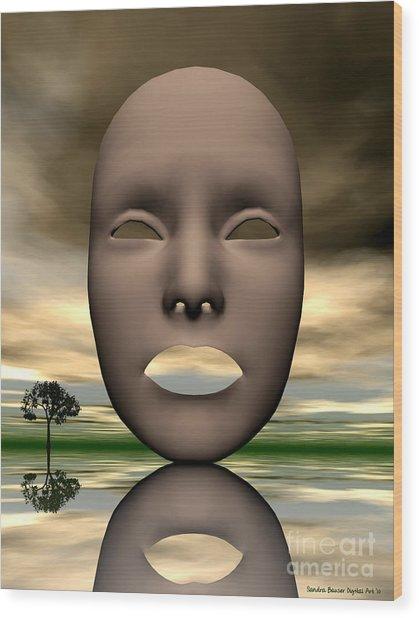 Looking Through Wood Print by Sandra Bauser Digital Art