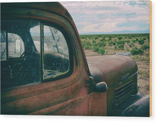 Looking West Wood Print