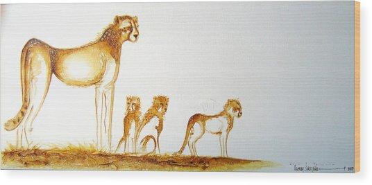 Lookout Post - Original Artwork Wood Print