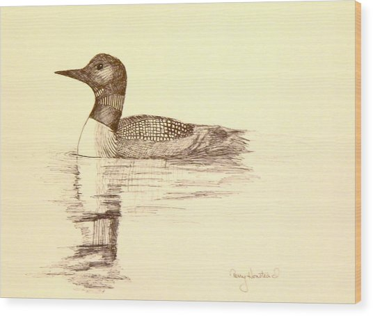 Loon Wood Print