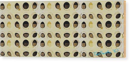 Loopholes  Series 1 Wood Print by Teodoro De La Santa