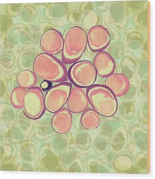 Loopy Dots #6 Wood Print